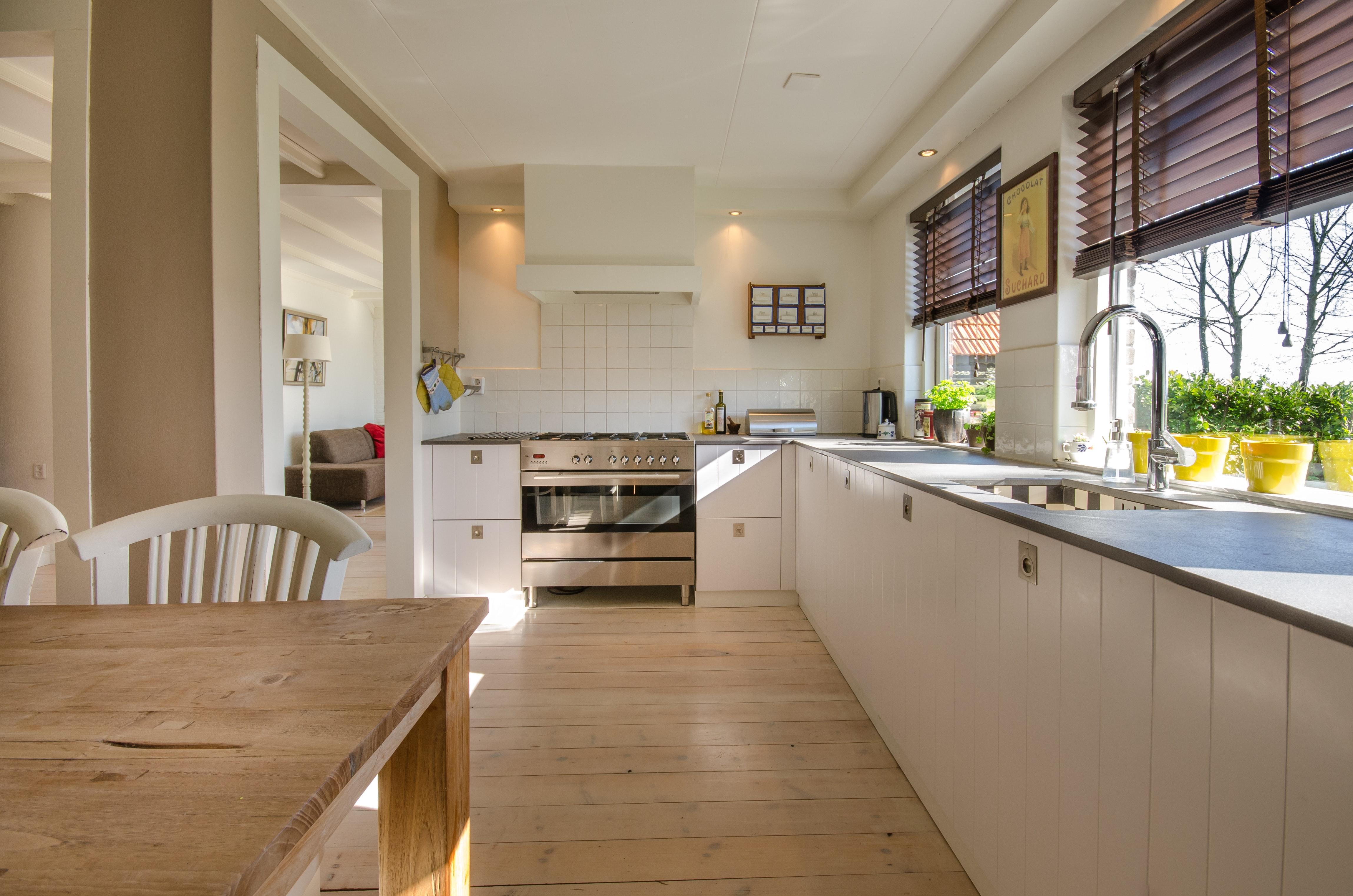 smart kitchen storage ideas near Windows